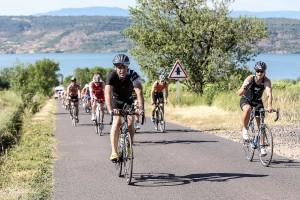 Parcours vélo du Triathlon du Salagou