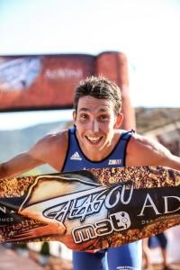Victoire de Pierre Le Corre sur le Triathlon M